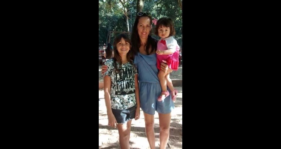 Ewerson Montalvão e Cláudia, de Marília (SP), enviaram foto das filhas Amanda, 11 anos, e Isabela, um ano