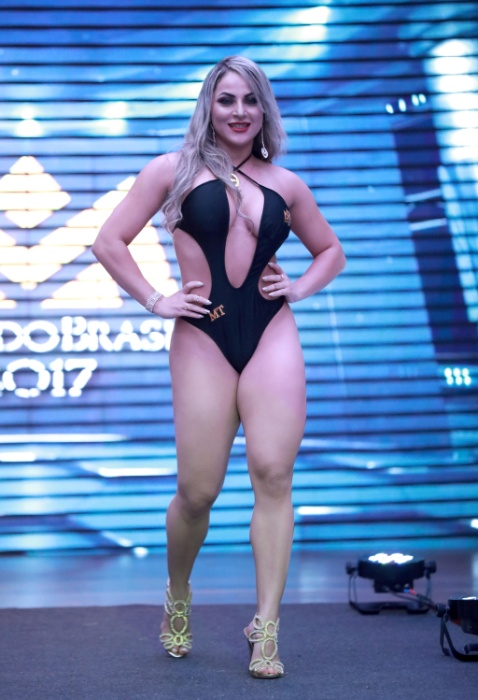 5.nov.2017 - Karolina Santos, musa do Mato Grosso, participa do Musa do Brasil 2017