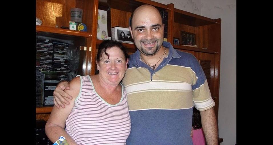 Renato Balestra, de São Paulo (SP), quer provar que é o filho mais carinhoso da dona Nilza