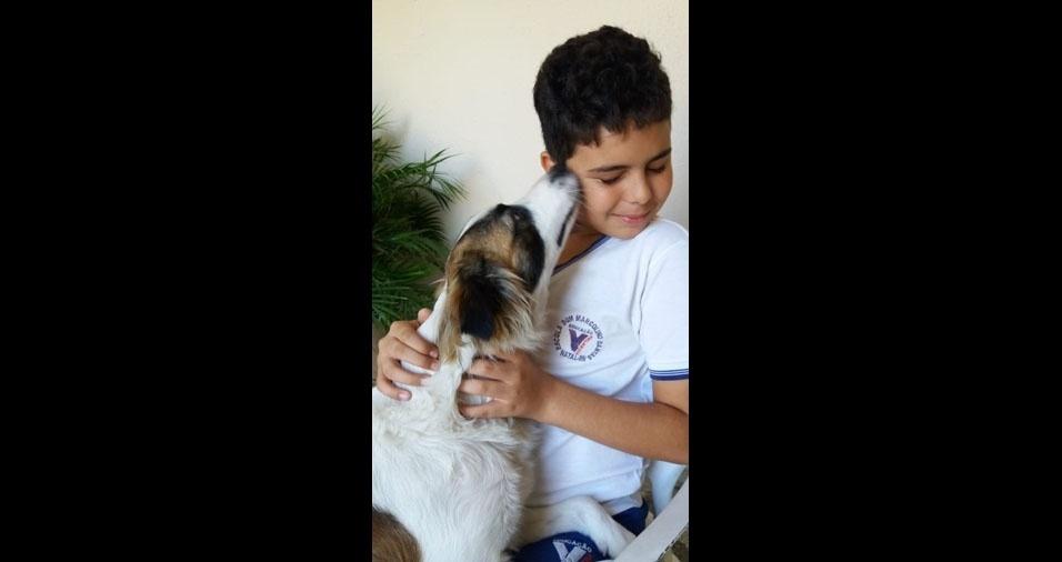 Lucas, de Natal (RN), em foto enviada pela mamãe Vitória Mônica Rodriguez