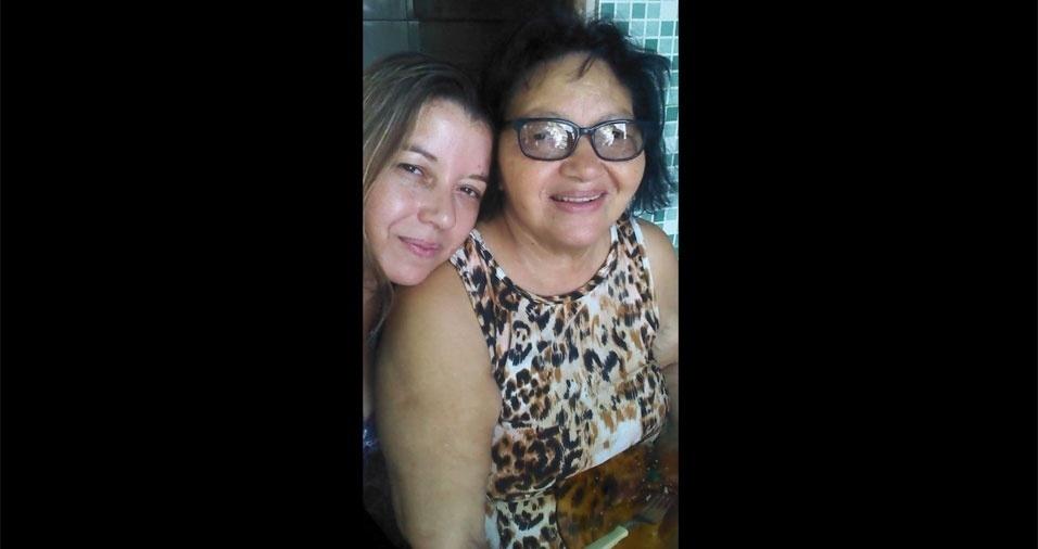 Jaqueline com a mãe Sara, de Barra Mansa (RJ)