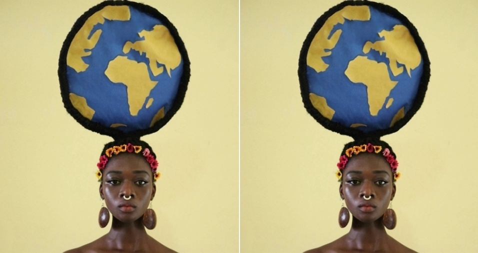 16. Em homenagem ao dia internacional da terra, celebrado em 22 de abril, Laeti também preparou um estilo inspirador de penteado