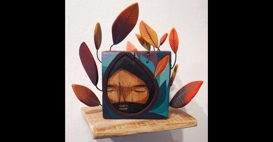 11. Obra usando madeira e pregos de Jaime Molina