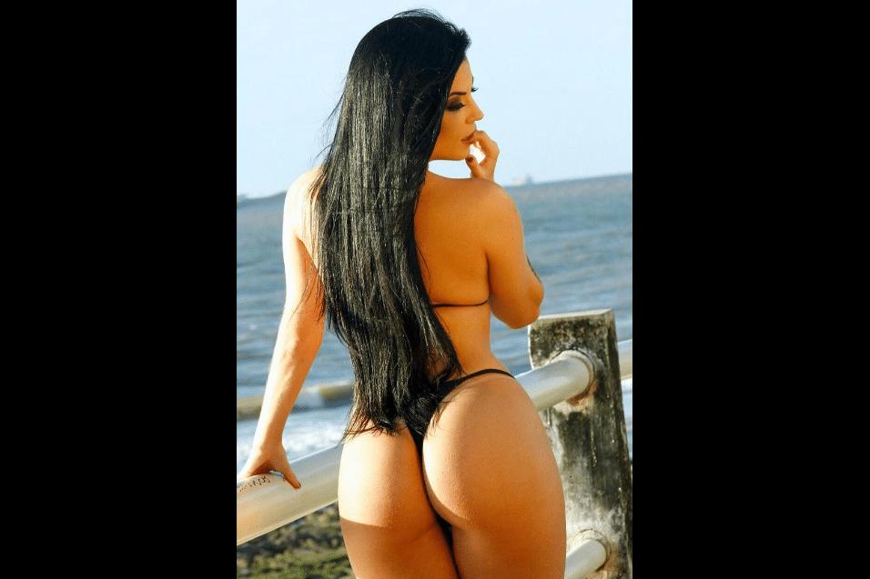 """28.jul.2017 - Depois da eleição da """"Playboy"""", Jéssica Amaral participou do concurso Miss Bumbum, na edição de 2013. Os 102 cm da """"preferência nacional"""" da modelo não foram suficientes para levar o título"""