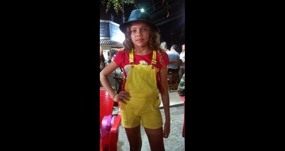 Marciane enviou foto da filha Waylla, de sete anos e onze meses, de Rio das Ostras (RJ)