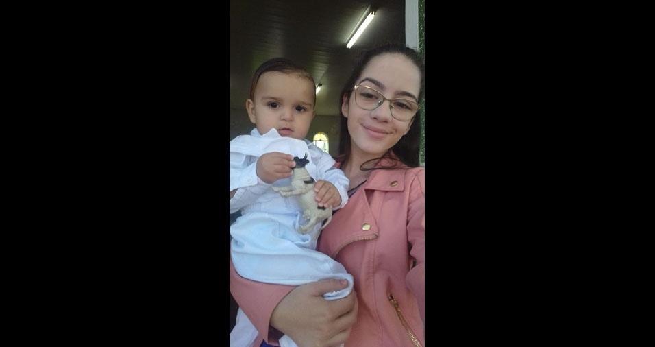 Jaqueline Sonaira de Souza enviou foto dos filhos Ana Clara, 11 anos, e  Otávio Henrique, um ano. Eles moram em Ibiá (MG)