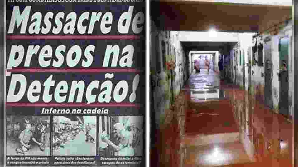 Fundada na década de 50 como uma prisão modelo, a Casa de Detenção do Carandiru, localizada no bairro homônimo na zona norte de São Paulo, se tornou uma das instituições penais brasileiras mais famosas da América Latina, mas por motivos nada lisonjeiros. Dentre eles, em destaque, está o fato de o presídio ter sido palco do maior massacre de detentos da história carcerária do Brasil, tragédia ocorrida em 2 de outubro de 1992, deixando 111 detentos mortos. Relembre a seguir a trajetória do presídio e o episódio que entrou para a história do país - Montagem BOL / Reprodução/Folhapress / Niels Andreas/Folhapress