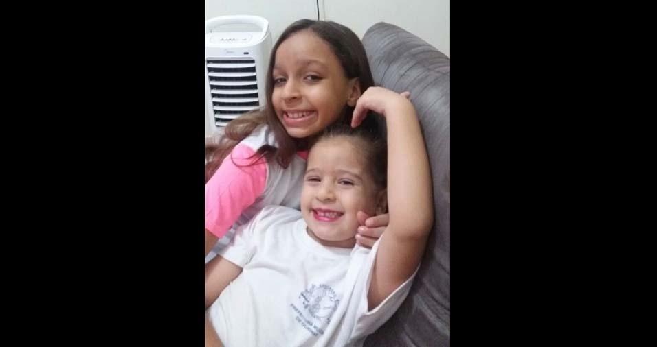 Carolinne, nove anos, e Emanuelly, quatro anos, são as filhas do Paulo, de Ourinhos (SP)