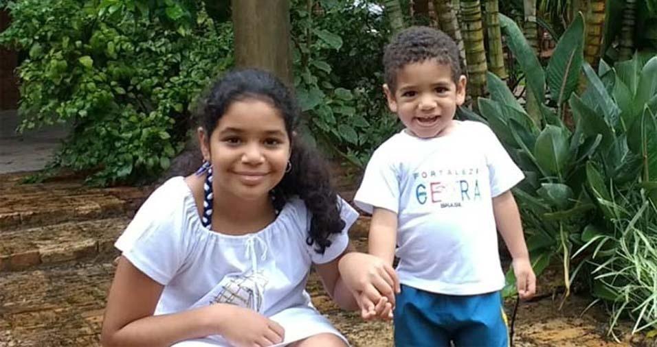 Os pais Valter e Luceli, de Pindamonhangaba (SP), enviaram foto da Maria Clara, de dez anos, e do João Pedro, de dois anos e sete meses
