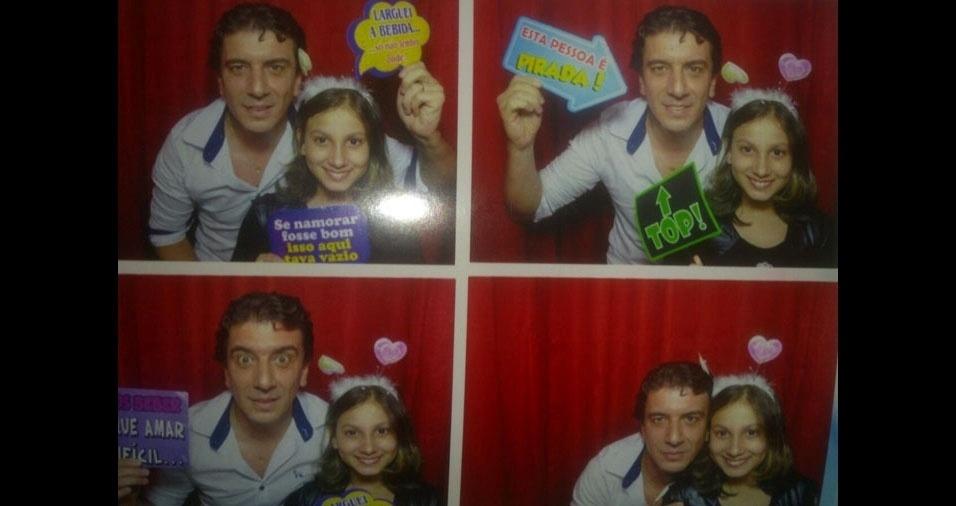 Lourival Escobar Martinez com a filha Camila, de São Paulo (SP)