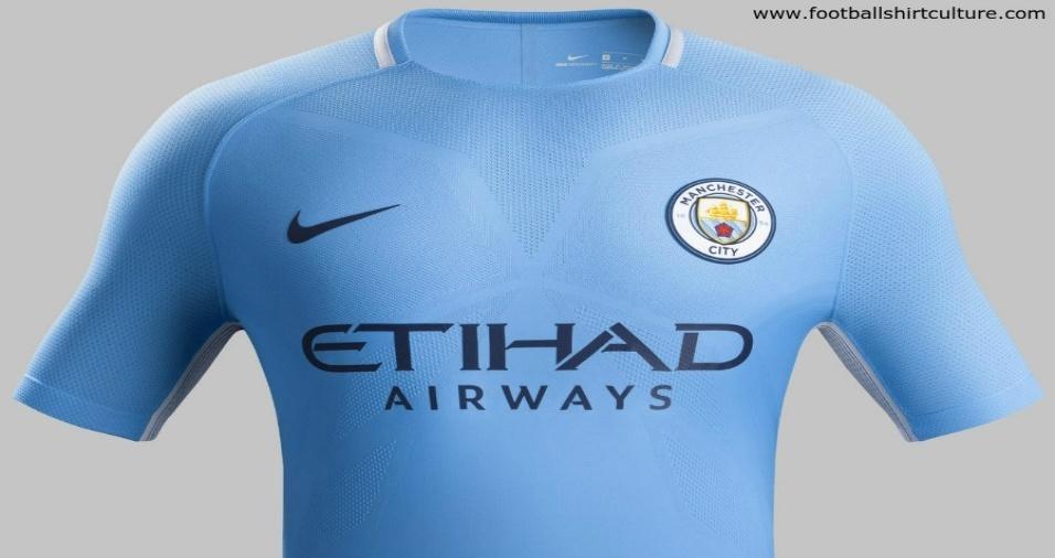 10. City - Os azuis de Manchester não trouxeram nada de novo em sua roupagem, apenas o corte um pouco mais apertado
