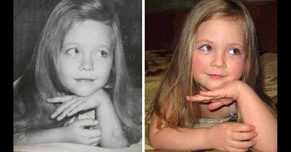 21. Surpresa: a menina da esquerda é avó da garotinha da direita