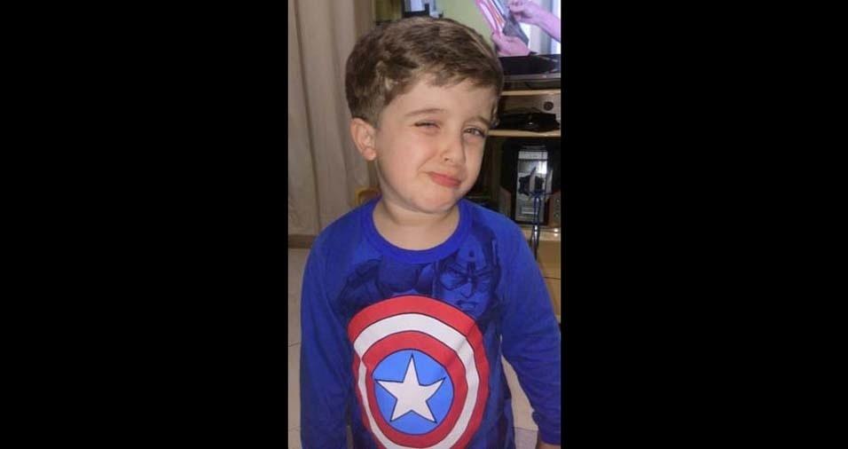 Michael, de Magé (SP), enviou foto do filho Guilherme