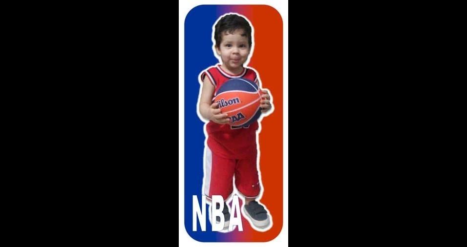 Pedro, de Aracaju (SE), mandou uma foto do filho Pedro Erlon, de dois anos