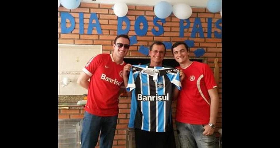 Beto Luz com os filhos Ângelo e Luciano, de Pelotas (RS)