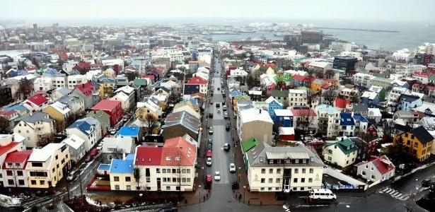 Reykjavik, capital da Islândia, país que ficou em 1º lugar no ranking dos mais pacíficos do mundo
