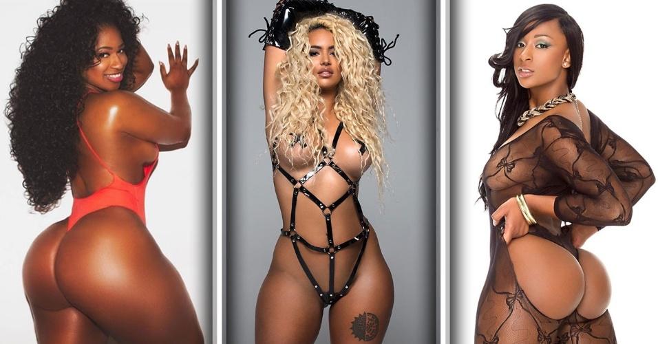 O site americano Nappy Afro, especializado em temas relacionados à cultura hip hop, tem uma sessão que reúne ensaios com as modelos negras e latinas mais gatas e desejadas deste meio musical nos Estados Unidos. Confira a seguir algumas dessas gatas, que além de modelos, também atuam como dançarinas em clipes de rappers famosos, como 50 Cent e Ludacris