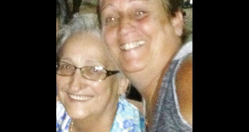 Valéria de Almeida Pinto com a mãe Nelci Aparecida, de Guaratinguetá (SP)