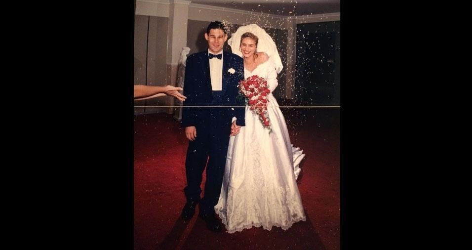 Fabio e Angel se casaram em Natal (RN), no dia 31 de maio de 1997