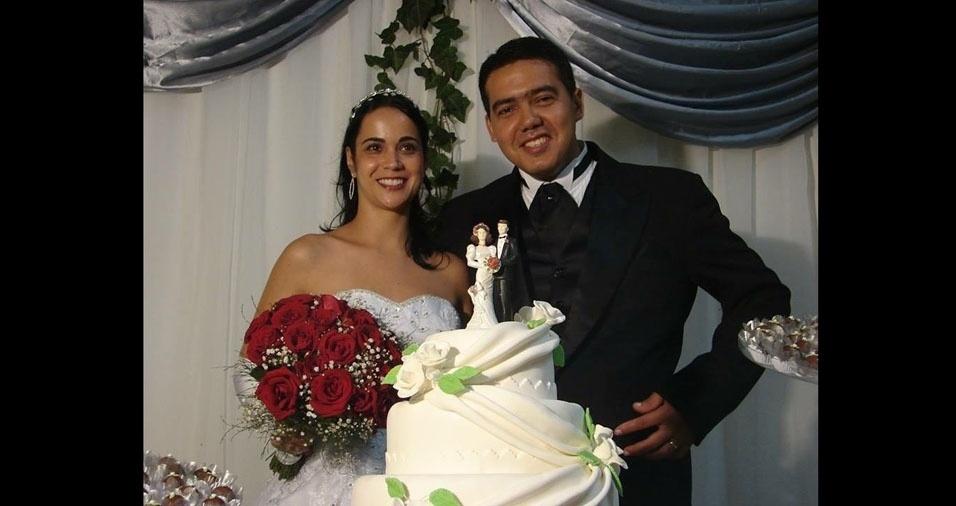Rafaela dos Santos Machado e Ronison Miranda da Silva se casaram em 8 de fevereiro de 2007, em Barra Mansa (RJ)