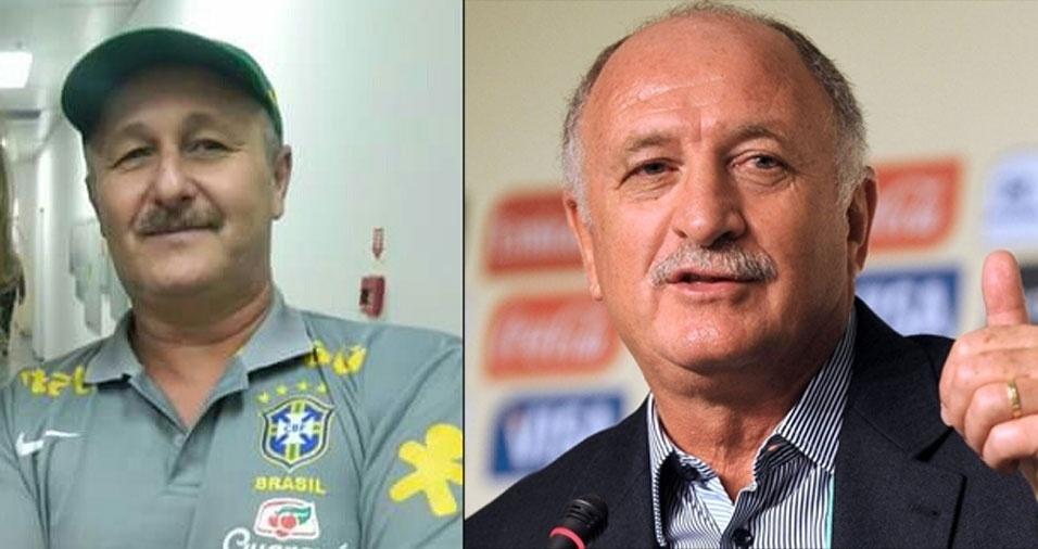 José Valter Ziviani, de São Paulo (SP), se acha parecido com o técnico de futebol Luiz Felipe Scolari, o Felipão