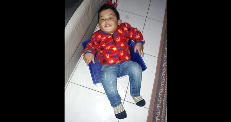 A mamãe Janaína enviou foto do filho Benjamin, de um ano e cinco meses