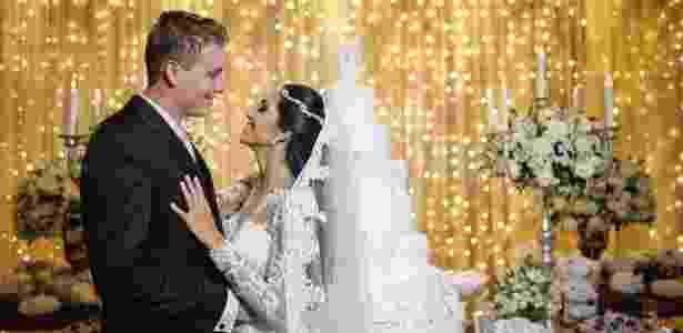Os noivos George e Débora, do Distrito Federal, participaram do especial em 2016 - Arquivo pessoal