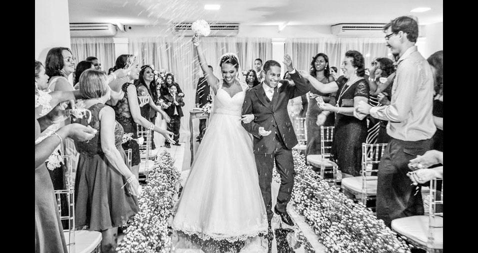 Marcus Vinicius e Erica Maria, de Salvador (BA), estão casados desde 18 de dezembro de 2016