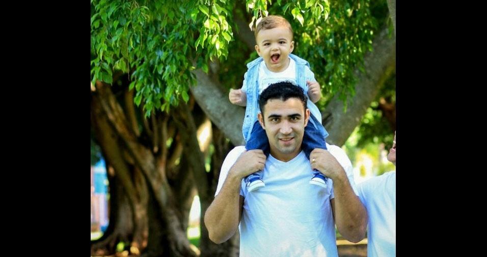 Marcos Vilalva com o filho Guilherme Vilalva, de Sud Menucci (SP)