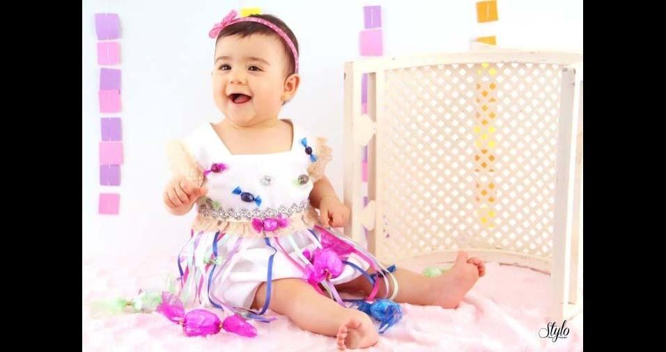 Cristiane e Eliane enviaram a foto da filha Luíza, de São Luiz Gonzaga (RS)