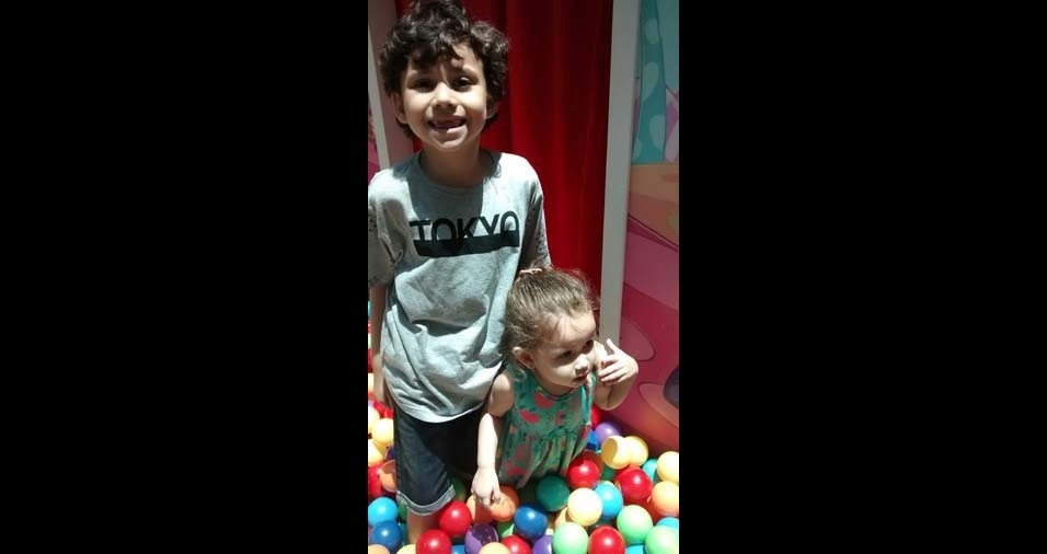Waldir e Ivana enviaram foto dos filhos Pedro e Maria