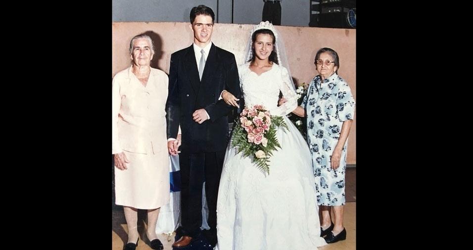 Katiane Félix e Itamar Júnior se casaram em São Simão (GO)