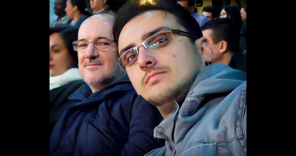 Daniel Perez Floriano com o pai João Edson, de Campinas (SP)