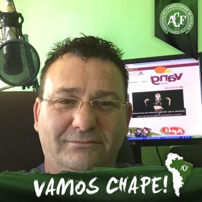 Jacir Biavatti era comentarista esportivo da RIC TV e da rádio Vang FM, de Chapecó (SC)