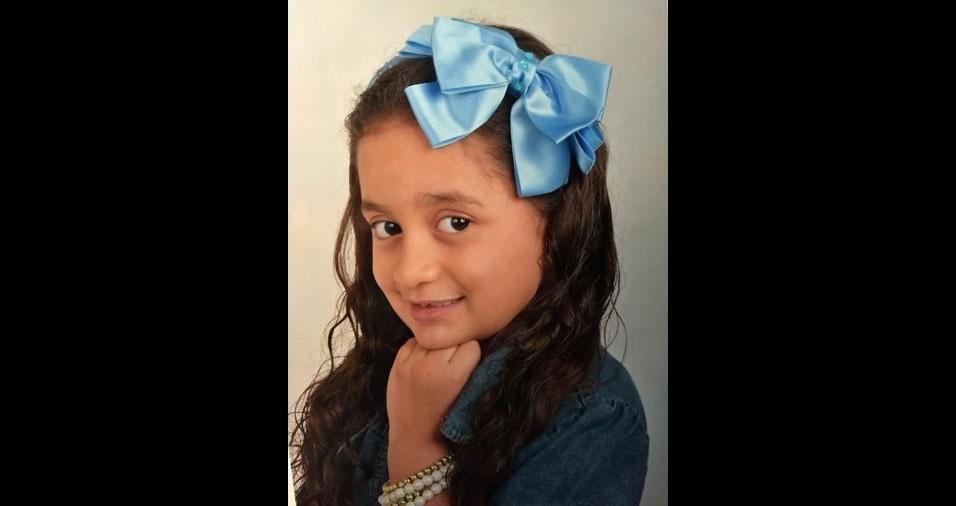 Wellington Aparecido Silva de Oliveira e Tatiana Moreira Reis enviaram foto da filha Manuella, de Guarulhos (SP)
