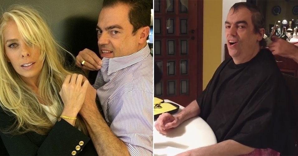 """16.mai.2016 - Conhecido como """"cabeleireiro das estrelas"""", Marco Antônio de Biaggi cortou pela primeira vez o cabelo após o tratamento contra o câncer no sistema linfático. Em 2015, ele descobriu um linfoma e submeteu-se a seis sessões de quimioterapia para tratar o câncer. Biaggi começou a perder os cabelos quando decidiu raspar tudo de uma vez e exibiu o visual careca em selfies com seus clientes famosos em seu salão de beleza. Para cuidar da saúde, o cabeleireiro andou um pouco afastado das redes sociais, mas hoje compartilhou o seu momento de beleza e recebeu milhares de mensagens carinhosas de suas seguidoras. """"Deus te abençoe, você é forte, iluminado e muito amado pelo Brasil. É muito bom vê-lo bem e sorrindo..."""", escreveu uma seguidora."""