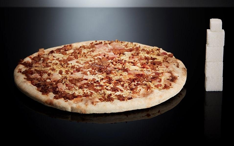Uma pizza brotinho tem 17 g de açúcar