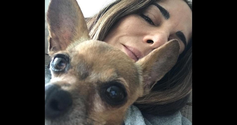 14. A atriz Gloria Pires ama a cadelinha Bijoux, sua fiel escudeira