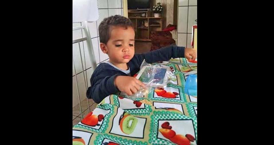 Rubson enviou foto do filho Ítalo, de Brasília (DF)