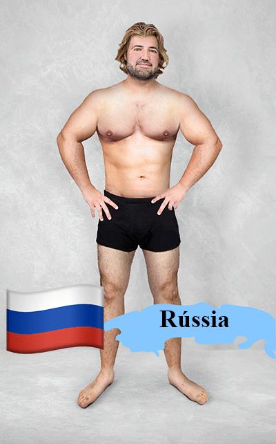 18.fev.2016 - Imagem editada mostra como seria o padrão de beleza na Rússia para os designers gráficos locais