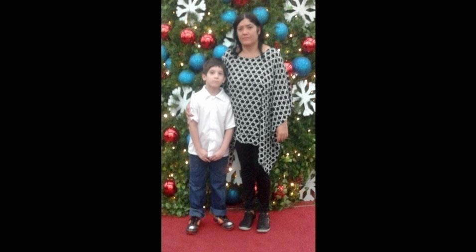 Mamãe Cristina com o filho Luiz Ricardo