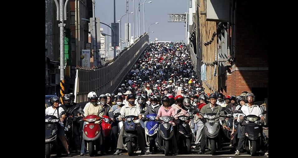 5. Hora do rush em Taiwan, na China