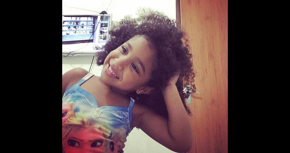 O papai Hugo, de Olinda (PE), enviou foto da Julia, de quatro anos