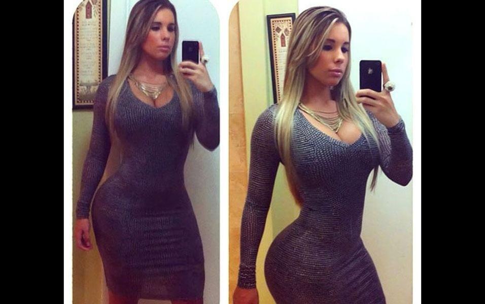 """Kathy é conhecida como a """"Kim Kardashian cubana"""""""