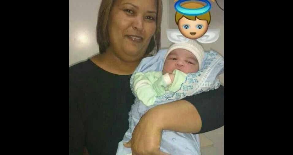 Edson Ribeiro dos Santos, de Belford Roxo (RJ), enviou foto da vovó Eliane com o netinho Pedro Henrique