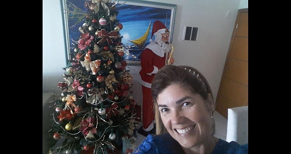 Silvana, de Praia Grande (SP), enviou foto de sua decoração de Natal
