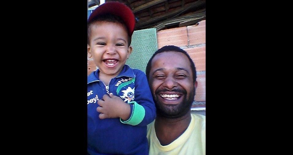 Papai Fernando com o o filho Miguel