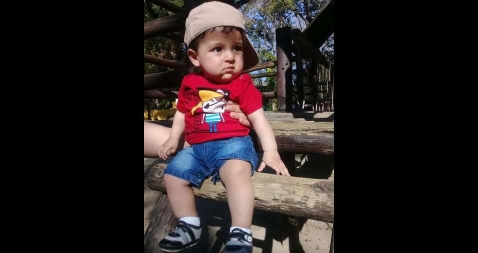 Gislaine e Rodrigo, de Barra Mansa (RJ), mandaram foto do pequeno Matheus, de dez meses