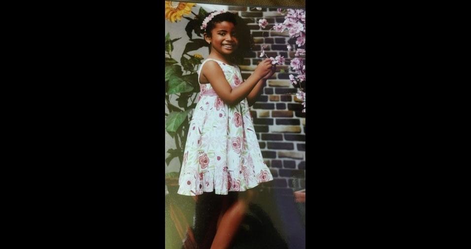 Nicole, seis anos, é filha do Sandro Almeida e da Ana Paula Vicente, de Mauá (SP)