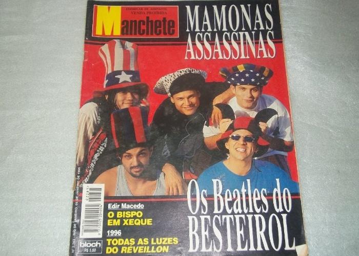 """Ao final de 1995, os Mamonas Assassinas já haviam estampado as capas de todas as grandes publicações. Em janeiro de 1996, a extinta revista Manchete classificou a banda como """"Os Betalhes do Besteirol"""""""